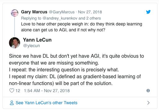 Yann LeCun、Jeff Dean等AI大神推特激辩AGI和深度学习