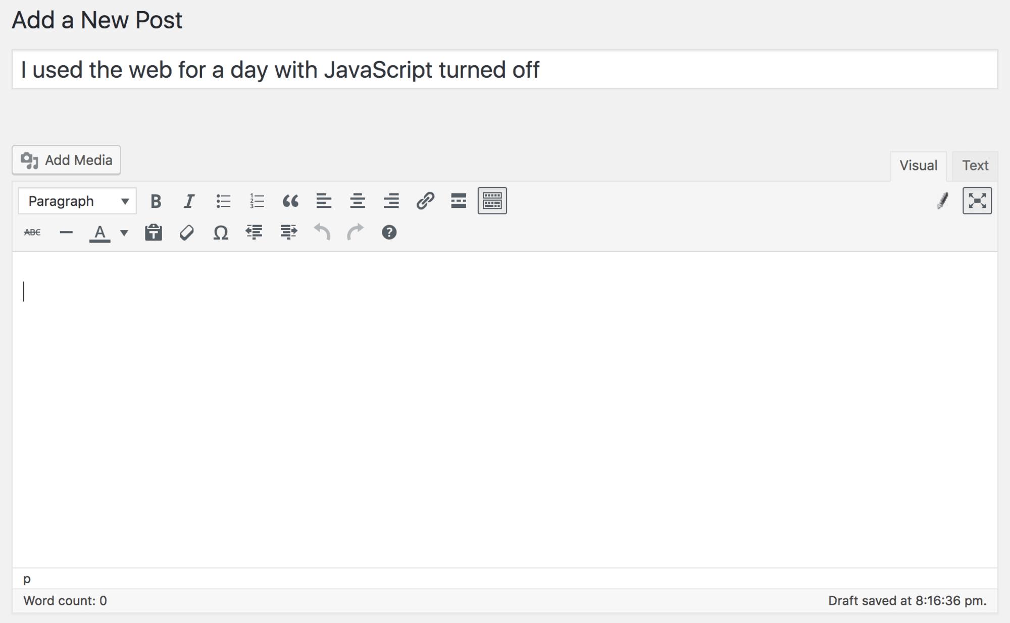 去掉JavaScript后,这些网站会变成这样
